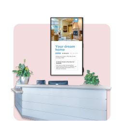 Digital signage in Real Estate powered by Fusion Signage